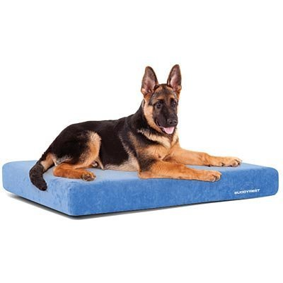 "Optimal Deluxe Gel Memory Foam Dog Bed, 32"" x 48"" x 5"""