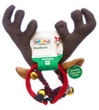 Medium Holiday Antlers & Bell Collar Combo