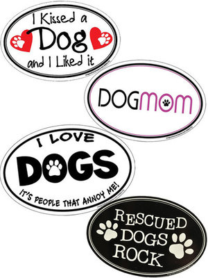 """Oval Magnets, 6"""" x 4"""" (Dog)"""