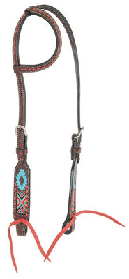 Oxbow Aztec Beaded Slip Ear Headstall, Full