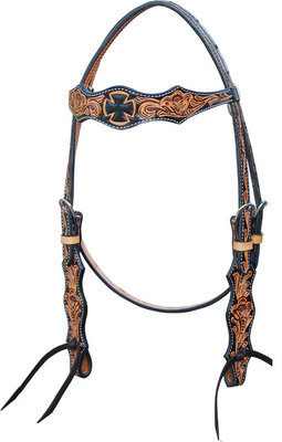 Oxbow Iron Cross Browband Headstall