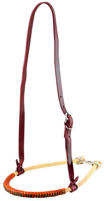 Oxbow Leather Covered Rope Noseband