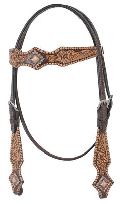 Full Size Oxbow Metallic Whipstitch Browband Headstall