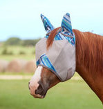 Patterned Crusader Fly Mask with Ears