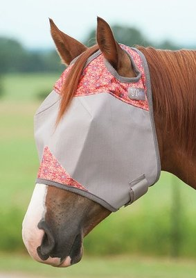 Patterned Crusader Fly Mask without Ears