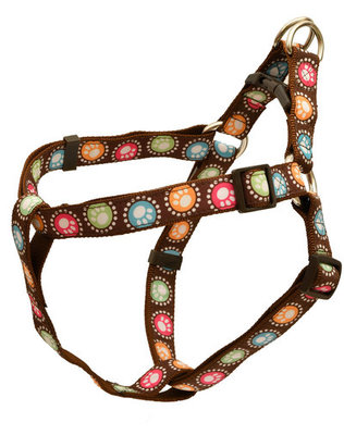 "Paw Print Dots 1"" Dog Harness, 22""-39"""