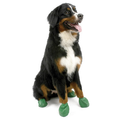 "XLarge PawZ Dog Boots, (Green, 5"")"