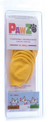 "XXSmall PawZ Dog Boots, (Yellow, 1.5"" L)"