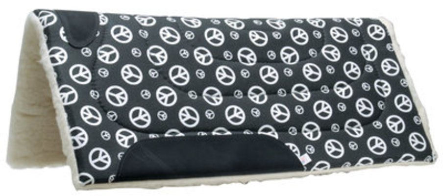 Peace Sign Saddle Pad