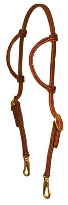 Perri's Double Ear Headstall with Snaps