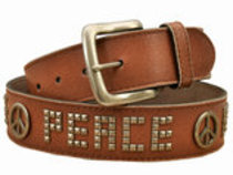 Perri's Tan Leather Peace Belt