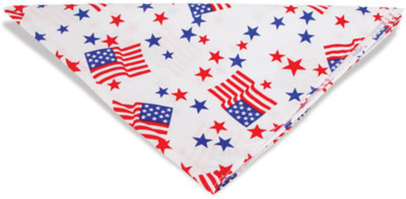 Patriotic Pet Bandana, Flags & Stars