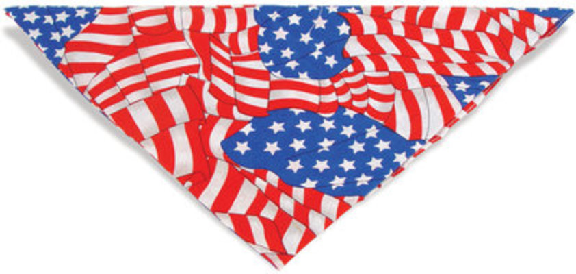 Patriotic Pet Bandana, Large Flags