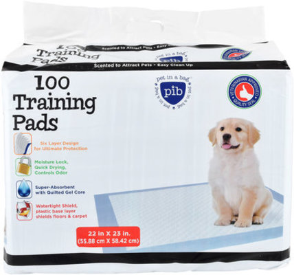 100 count Pet in a Bag Training Pads