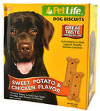 Chicken & Sweet Potato Flavored Dog Biscuits, 4 lb Box