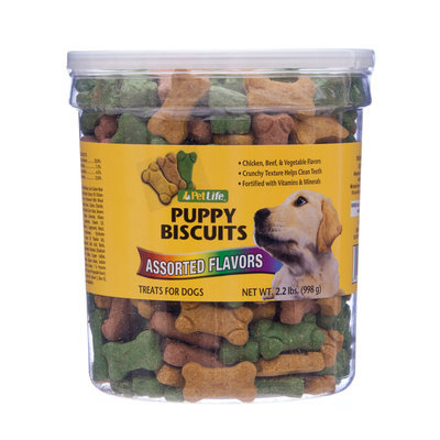 Pet Life Puppy Biscuits, 2.2 lb tub