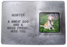 photograph relating to Rainbow Bridge Pet Poem Printable called Tailored Engraved Canine Memorial Marker w/ Image Body