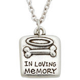 "Pet Memorial Necklace ""In Loving Memory"""