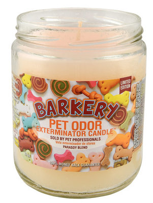 Pet Odor Exterminator Candle, Barkery, 13 oz