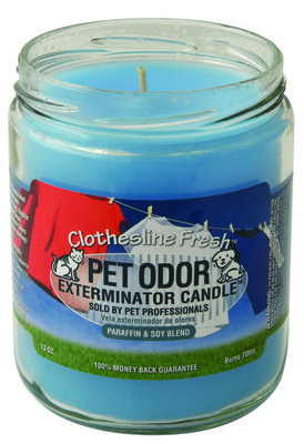 Pet Odor Exterminator Candle, Clothesline Fresh