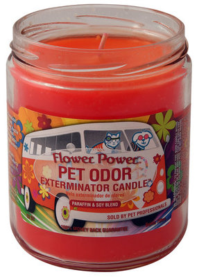 Pet Odor Exterminator Candle, Flower Power