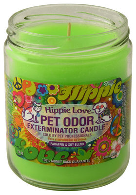 Pet Odor Exterminator Candle, Hippie Love