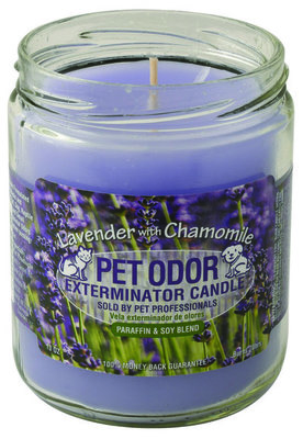 Pet Odor Exterminator Candle, Lavender with Chamomile