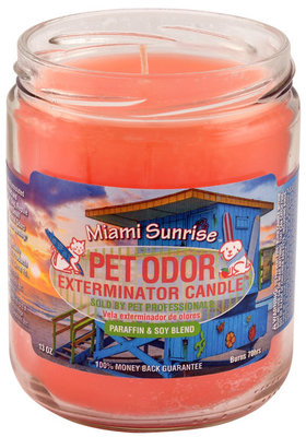 Pet Odor Exterminator Candle, Miami Sunrise