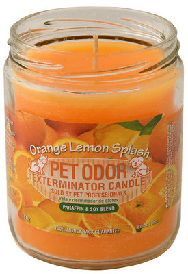 Pet Odor Exterminator Candle, Orange Lemon Splash