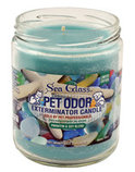 Sea Glass Pet Odor Exterminator Candle