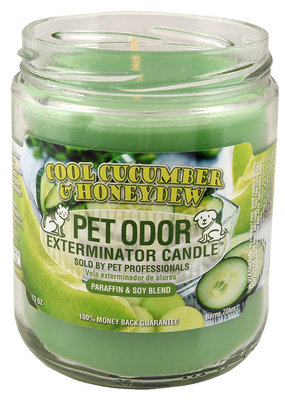 Pet Odor Exterminator Candles, Cool Cucumber & Honeydew