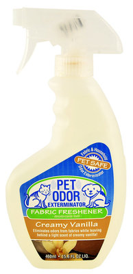 Pet Odor Exterminator Fabric Freshener Spray, Creamy Vanilla, 15.6 oz