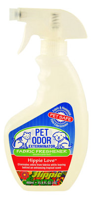 Pet Odor Exterminator Fabric Freshener Spray, Hippie Love, 15.6 oz