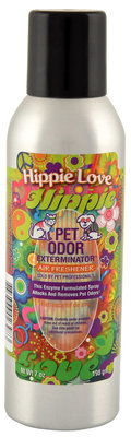Pet Odor Exterminator Air Freshener Spray, Hippie Love, 7oz