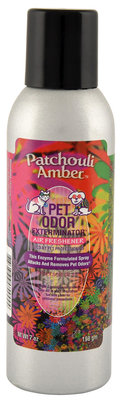 Pet Odor Exterminator Air Freshener Spray, Patchouli Amber