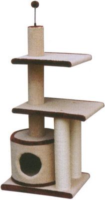 3 Level Cat Condo w/ Sisal Post, each
