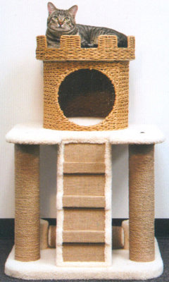 Cat Castle Condo w/ Scratching Post, each