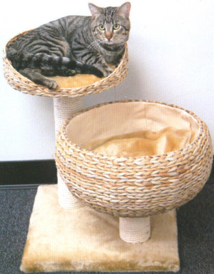 Cat Lounger with Scratch Post, each