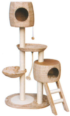 Cat Tree w/ Condo, Ladder, & Sisal Rope, each