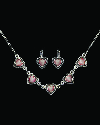 Pink Hearts Jewelry Set by Montana Silversmiths