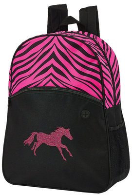 Pink Zebra Backpack