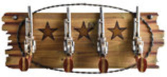 Pistol Four Hook Rack
