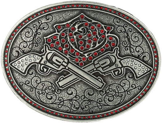 Pistols & Rose Belt Buckle