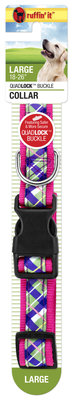 "Plaid Overlay Collar, (1"" x 18""-26"")"