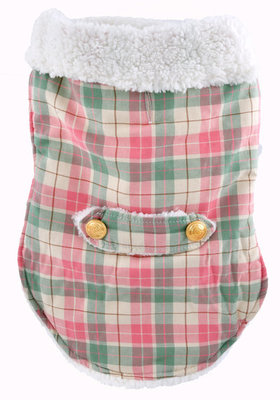 Plaid Winter Dog Coat