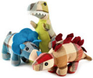"Plaidosaurus Dog Toys, 9.75"", Assorted"