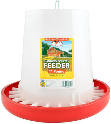 11 lb Plastic Hanging Chicken Feeder