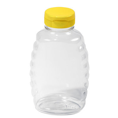 12-pack Plastic Squeeze (16 oz) Honey Jars