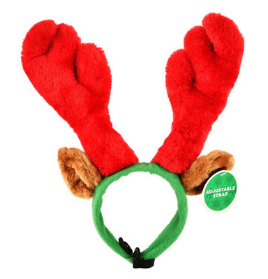 Plush Antler Pet Headband