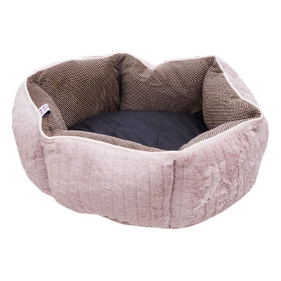 "18"" Round Plush Dog Bed"